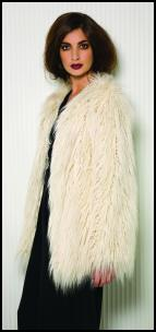 Cream White Fur Chubby Coat