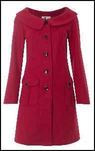 60s Mod Retro 'Audrey Coat' by Silk & Sawdust.