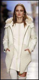 2012 Winter White Body Warmer Puffa Jacket.