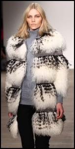 White Tipped Fur Coat - Matthew Williamson AW11