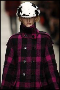 Burberry Check Double Breasted Tailored Coat.