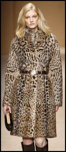 Stencilled Mink Coat.