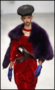 Fur Purple Cape.