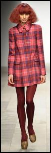 Bright Check Retro 60s Coat.