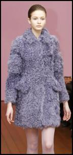 Philosophy Lilac Fur Mini Coat.