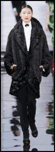 Black Cocoon Coat AW 11 Ralph Lauren.
