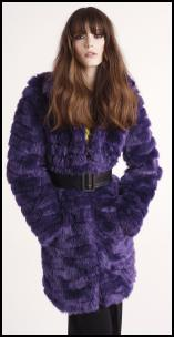 Purple Glam Faux Fur Coat