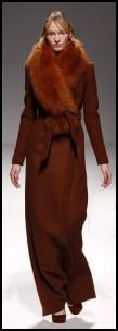 Cinnamon Brown Long Maxi Wrap Coat.