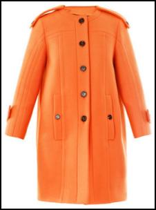 Burberry Prorsum Orange Coat - AW11