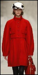 Burberry Prorsum Red Balloon Coat