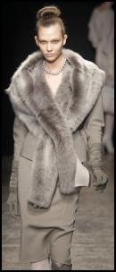Donna Karan Costume Suit & Fur Throw.