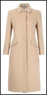 Jigsaw Caramel Tailored Coat.