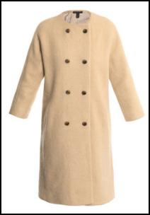 Marc B Collarless Coat.