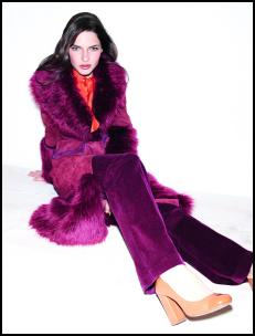 Wallis AW11 Berry Suede Coat.