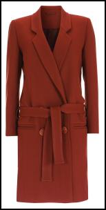 Topshop AW11 Tan Wool Belted Long Coat.