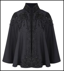 Black Beaded Cape.