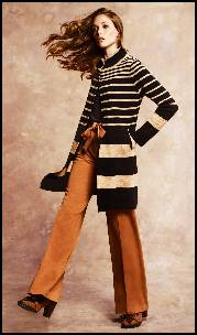 Monsoon/Accessorize - Samantha Stripe Knit Coat.