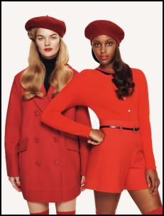 Benetton Orange Red Clothing.