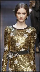 Dolce&Gabbana Gold Sequin Star Dress.