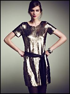 Short Sequin Shimmer Evening Dress