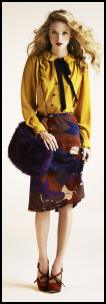 Mustard Yellow Blouse With Black Bow Tie - River Island.