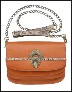 Orange Tan Chain Strap Handbag - River Island.