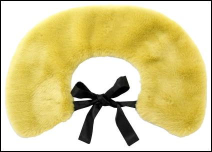 River Island AW11 - Yellow Fur Tippet & Black Tie Ribbon.