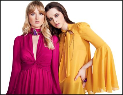 New Look AW11 - Bright Pink, Bright Yellow Dresses.