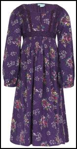 Monsoon Purple Floral 70s Smock Dress.