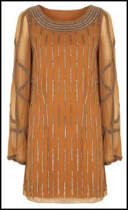 Orange Bead Sixties Tunic Dress.