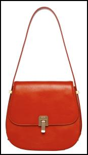 House of Fraser - Orange 'Boston' Turnlock Shoulder Bag.