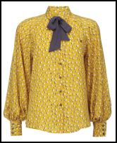 Debenhams AW11 Yellow Print Blouse.