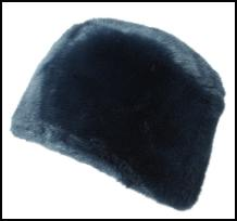 Teal Fur Cloche Hat.