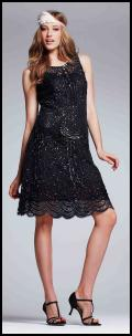 The Perfect LBD - Teatro Sequin Beaded Little Black Party Dress.