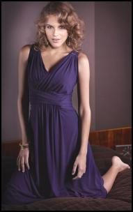 Kaliko Purple Jewelled Shoulder Maxi Dress.