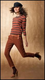 La Redoute Orange/Grey Striped Jumper.
