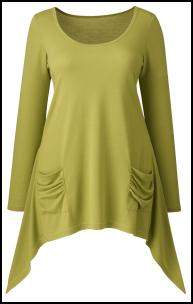 Simply-Be Green Pointed Pocket Tunic.