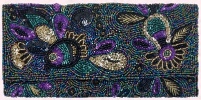 M&S Beaded Clutch Bag.