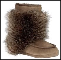Marks & Spencer Fur Trim Slippers.