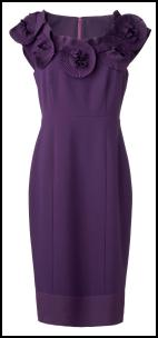 Marks & Spencer AW11 -  Purple Pleated Rose Neckline Dress.