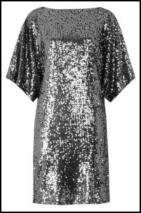 Luxury Silver Sequin Dress.