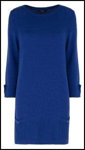 Marks and Spencer Blue Straight Tunic Dress.
