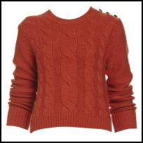 Caramel Orange Titan 3 Button Shoulder Jumper.