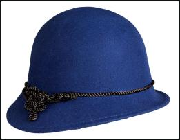 Knot Detail Blue Cloche Hat - EAST.