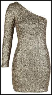 Oli AW11 Clothing AX Paris Metallic Gold Dress.