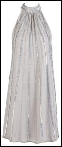 Oli Premium Silver Sequin Spray Halter Dress.