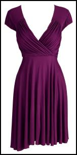 Purple V Neck Dress - Very.co.uk.