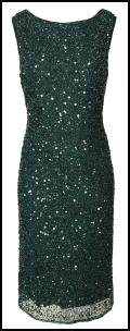 Rich Green Sequin Dress -  Gilded Lillies Collection - EAST.
