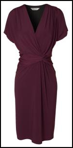 Plum Wrap Dress - EAST Gilded Lilies Collection.