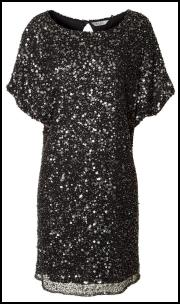 EAST Boutique Neemrana Black/Silver Sequin Dress.